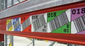 Skladišče in logistika - barcode nalepke za regale